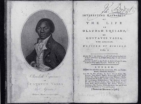 Title page of Olaudauh Equiano's autobiography, first published in 1789