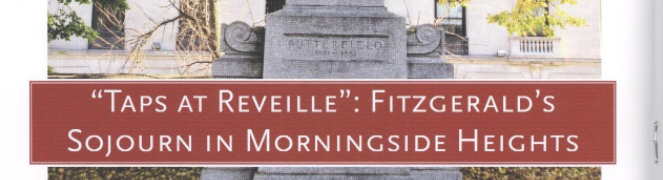 F. Scott Fitzgerald's Sojourn in Morningside Heights